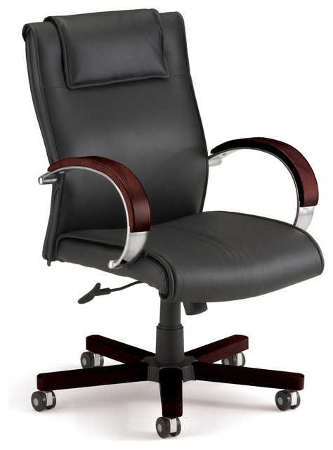 Tremendous Apex Mid Back Leather Swivel Chair Mahogany Beatyapartments Chair Design Images Beatyapartmentscom