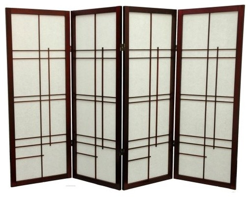 Oriental Furniture Low Eudes Shoji Screen Room Divider 48 Inch Asian Screens And Dividers By Hayneedle