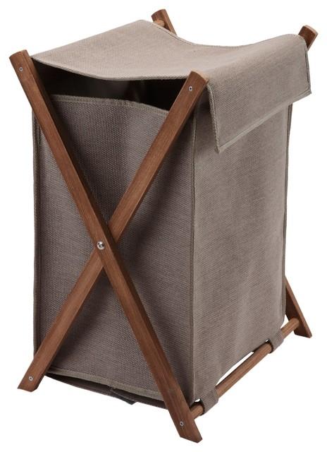 Dali Square Foldable Hamper Laundry Organizer Basket, Taupe.
