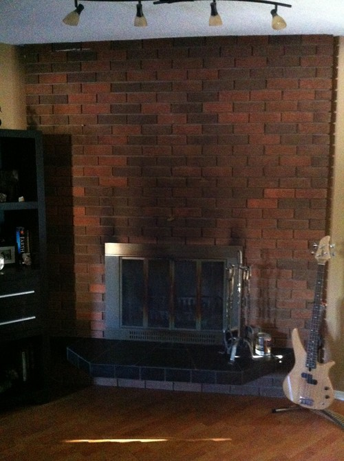 Thinking About Whitewashing Brick Fireplace