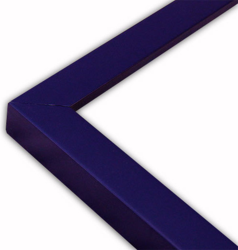 Narrow Flat Navy Blue Picture Frame, Solid Wood - Traditional ...