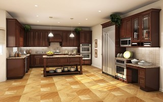 RTA Cabinets Waterford Estates (Merlot) Series - Milwaukee - by Custom Service Hardware, Inc