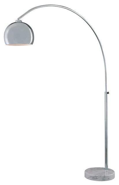 Mid Century Modern Arc Floor Lamp Chrome With Marble Base