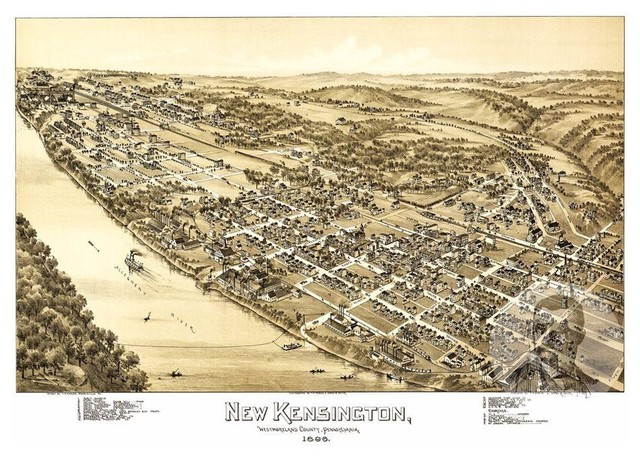 Historic Decor PA from 1909 Vintage Pennsylvania Art Old Map of Erie