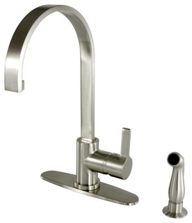 Gourmetier Continental Kitchen Faucets, Pull-Down Sprayer, Polished Chrome - Contemporary ...