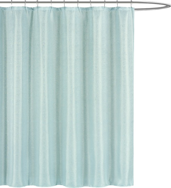 Luxury Fabric Shower Curtain, Subtle Pinstripe With Sequin Accents ...