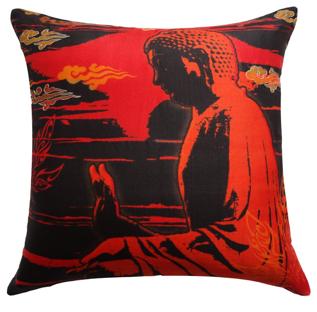 Silk Decorative Pillow Covers : Shop Houzz Vintage Maya Peace Silk Pillow Cover - Decorative Pillows