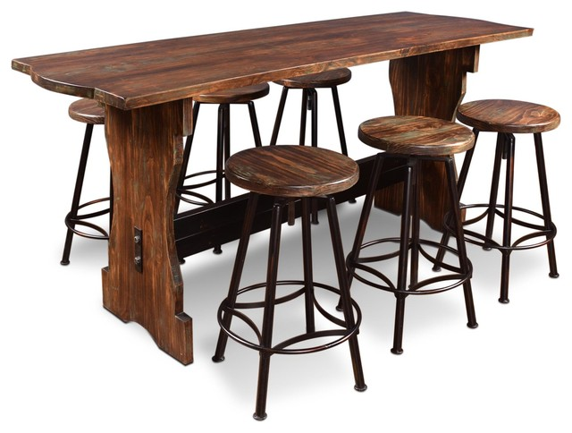 sunset trading 7 piece cabo counter height pub table set rustic indoor pub and bistro tables. Black Bedroom Furniture Sets. Home Design Ideas