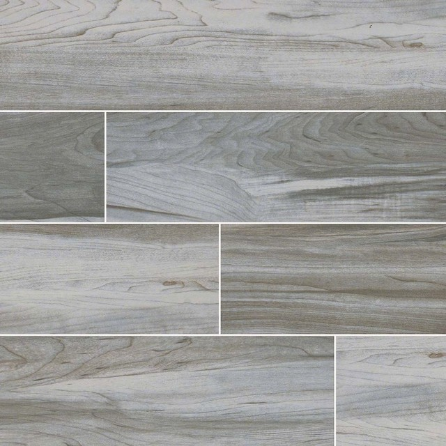 Carolina Timber White Ceramic Wood Look Tile Traditional Wall