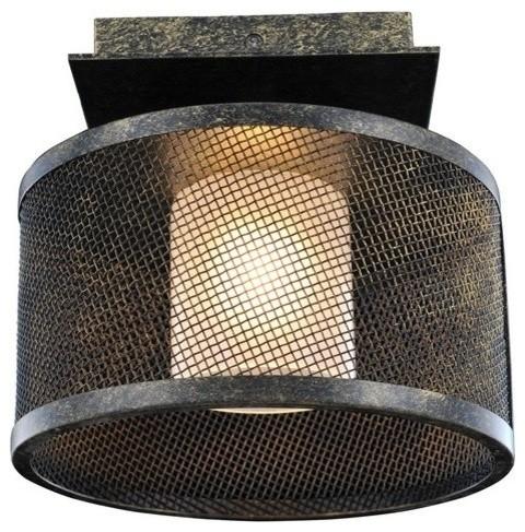 Kalco Stanley 1-Light Semi Flush, Volcano Bronze.