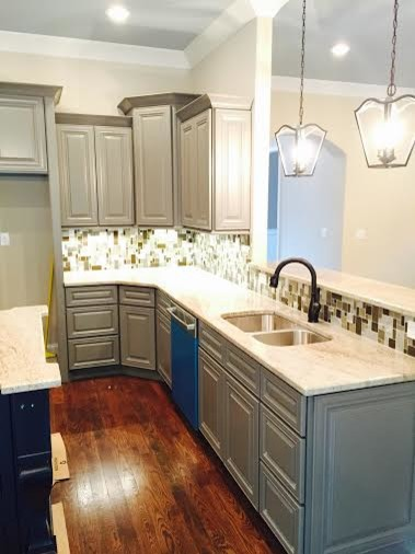 This Was The Charleston Antique White Cabinets We Painted Gray Color.  Turned Out Gray Kitchen Cabinets Looks Great. I Will Appreciate Your  Suggestion And ...