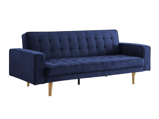 Magnificent Sealy Tilbury Sofa Convertible Sydney Dark Blue Natural Wood Legs Evergreenethics Interior Chair Design Evergreenethicsorg