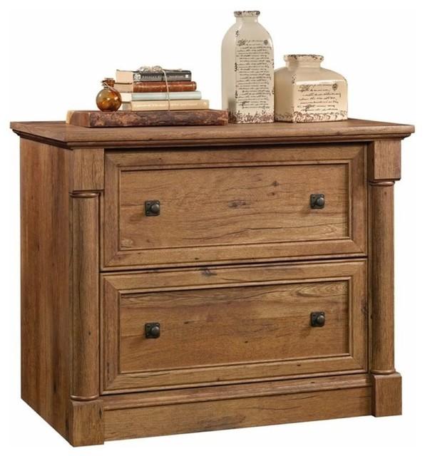 2-Drawer Lateral File Cabinet, Vintage Oak.