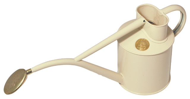 Haws 2 Pint Indoor Metal Watering Can Gift Boxed Cream