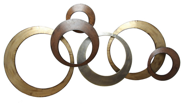 Wall Decoration Rings : Stratton home decor metallic rings wall metal