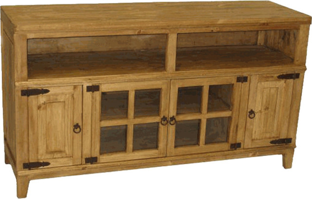 Rustic Pine Wood 60 Tv Stand