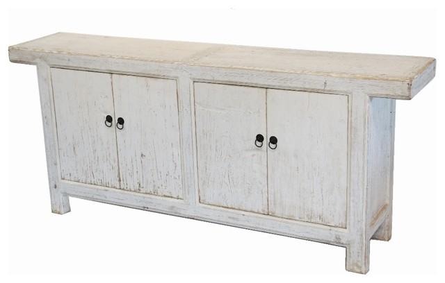 Reclaimed Wood White Sideboard Buffet Media Cabinet