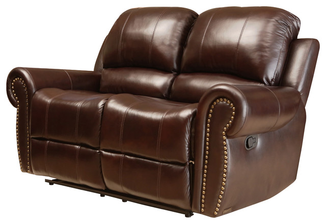Miraculous Abbyson Living Lexington Reclining Loveseat Burgandy Machost Co Dining Chair Design Ideas Machostcouk