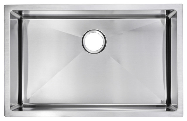 30 X 19 Single Basin Top Mount Stainless Steel Kitchen Sink Contemporary Kitchen Sinks By Water Creation
