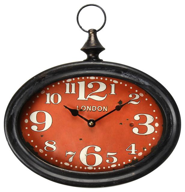 black iron retro wall clock