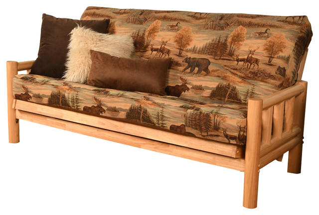 Gunner Frame Futon With Natural Finish, Canadian