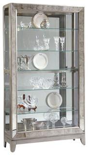 Pulaski Side Entry Curio, Platinum - Contemporary - China Cabinets And Hutches - by Emma Mason