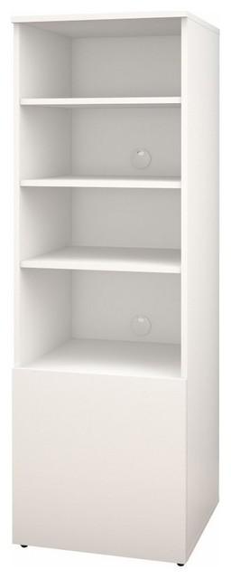 Arobas 600203 Bookcase/audio Tower From Nexera, White.