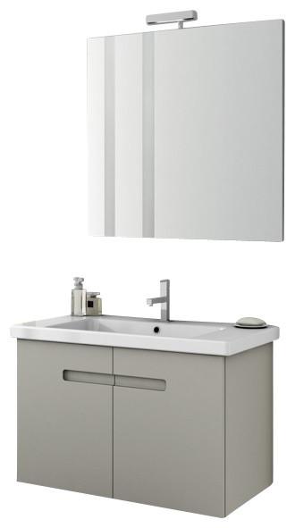 34 Inch Bathroom Vanity: 34 Inch Matte Canapa Bathroom Vanity Set