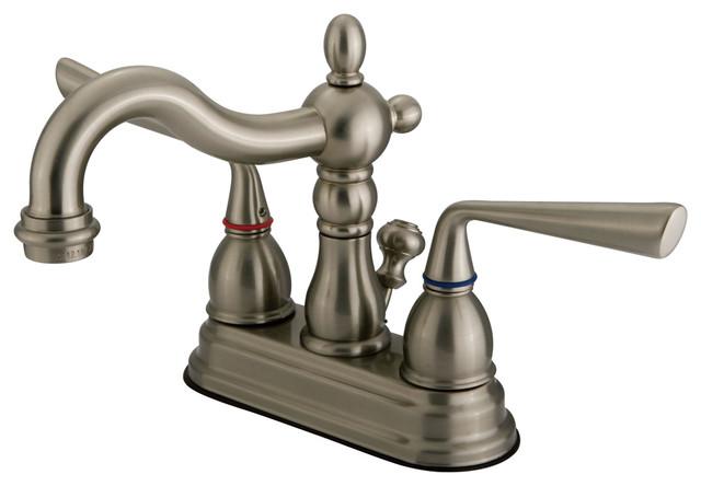 Cheap Bathroom Faucets Single Handle Silver Brass Vessel: Silver Sage 2 Handle 4 Centerset Lavatory Faucet With