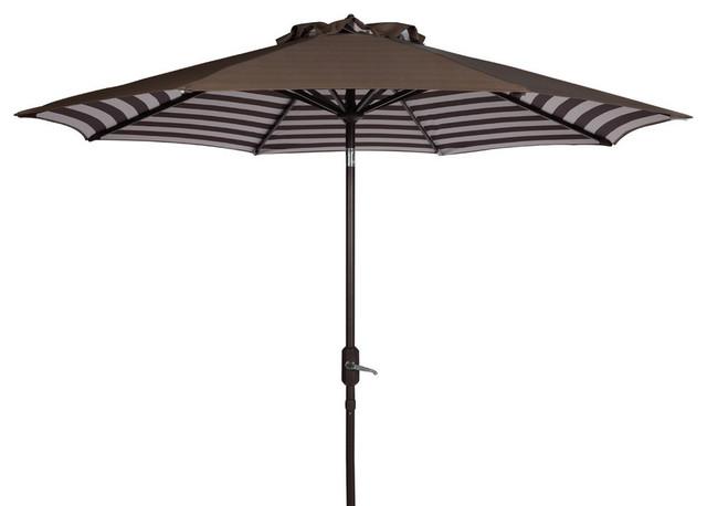 Tiana 9&x27; Crank Umbrella, Gray.