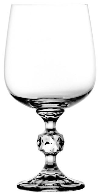 Orb Lead Crystal Red Wine Glasses, Set of 6