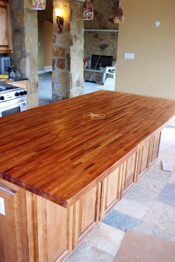 Mesquite Edge Grain Counter Top
