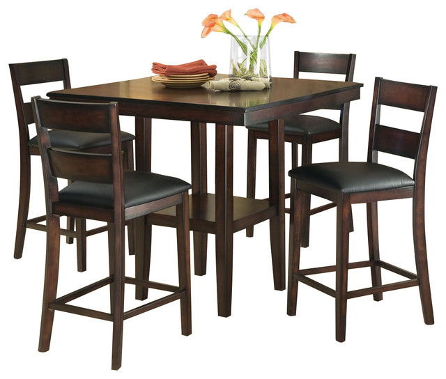 Dining Room Sets 5 Piece: Standard Furniture Pendelton 5-Piece Counter Height Dining
