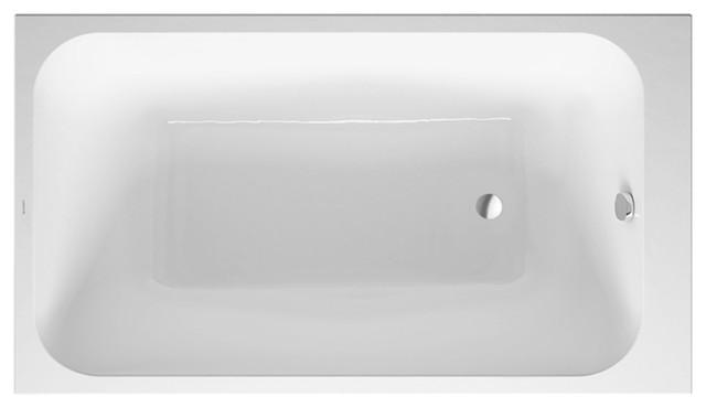"Duravit Durastyle Soaking Bathtub, White Alpin, 55.""x31.5""x23"", 700233000000090."