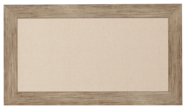 Beatrice Rustic Brown Framed Fabric Pinboard - Contemporary ...