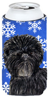 Affenpinscher Winter Snowflakes Holiday Hugger - Traditional - Drink Sleeves - by the-store