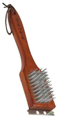 "12"" Wood Grill Brush."