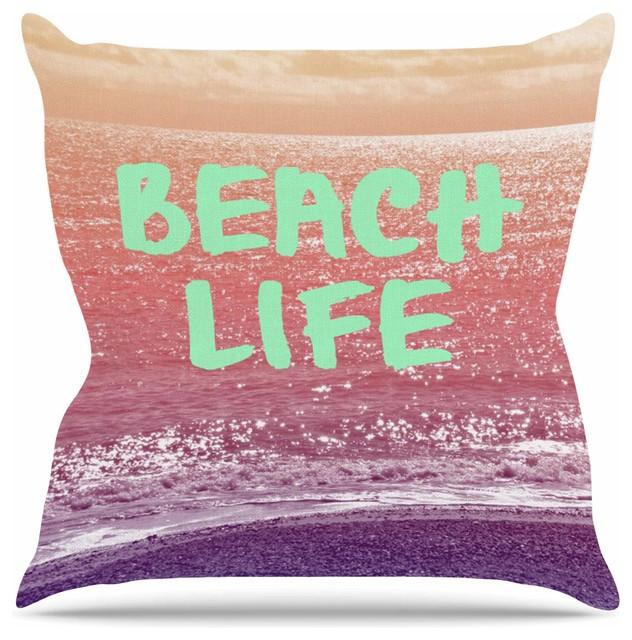 Modern Beach Pillow : KESS InHouse - Alison Coxon