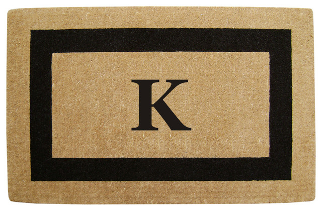 "Heavy Duty Coco Black Single Picture Frame Mat, Monogrammed ""k"" Mat, 30x48x1."