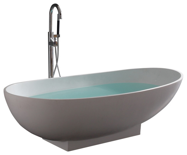 Stand Alone Resin Bathtub Modern Bathtubs