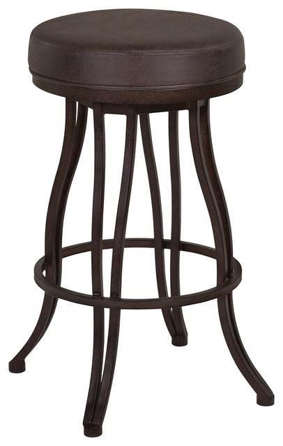 Strange Ventura 30 Bar Height Metal Swivel Backless Barstool Bandero Espresso Beatyapartments Chair Design Images Beatyapartmentscom