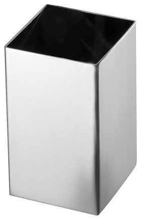 Square Polished Chrome Toothbrush Holder