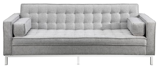 Pleasant 83 75 W Sofa Bed Modern Flip Back Tufted 100 Polyester Cushions Wooden Frame Download Free Architecture Designs Barepgrimeyleaguecom