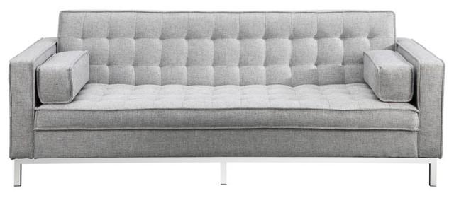 Sofa Bed Modern Flip Back Tufted