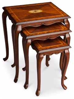Butler Traditional Nest Of Tables Medium Brown