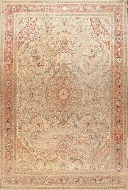 Persian Handmade Worn Oriental Rug