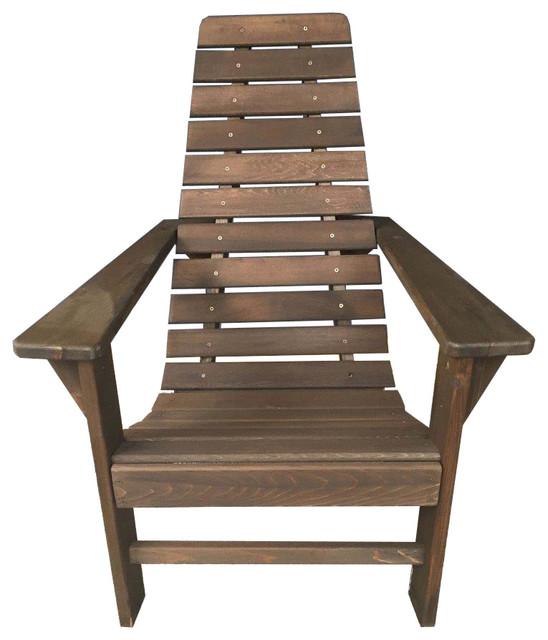 New Hope Cedar Adirondack Chair, Walnut.