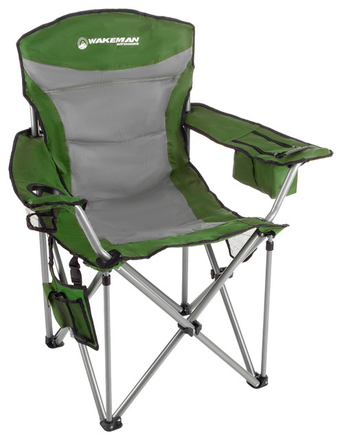 Astounding Wakeman Heavy Duty Camp Chair 850Lb Weight Capacity Green Ocoug Best Dining Table And Chair Ideas Images Ocougorg