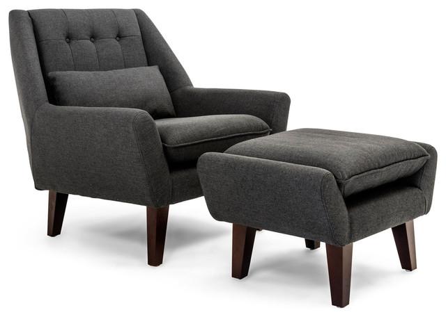 kardiel stuart mid century modern lounge chair and ottoman