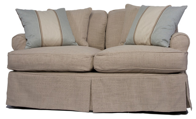 Whitman Love Seat With Slip Cover, Linen.